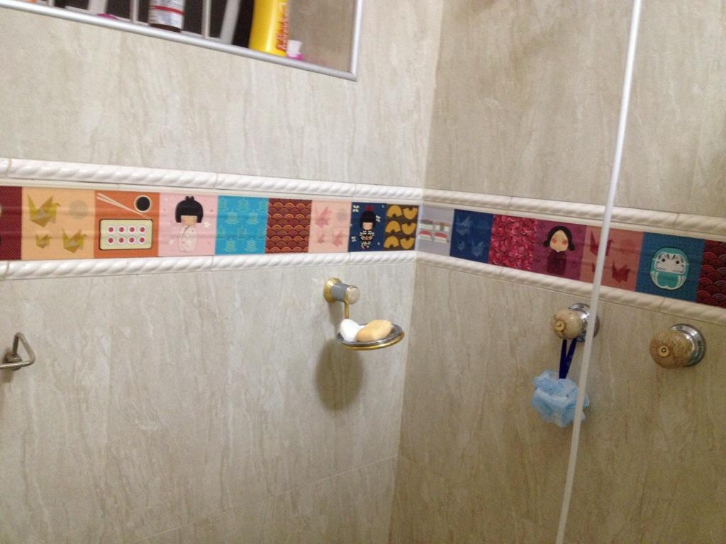 adesivo de ladrilho hidráulico deolhonacasa.com #9C642F 1024x768 Adesivos Hidraulicos Banheiro