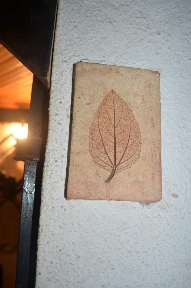 detalhe da cerâmica da adega.