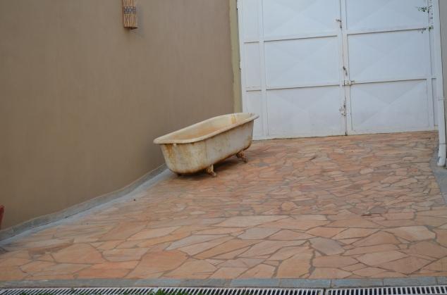 presentão quando cheguei em casa! A segunda banheira vitoriana.