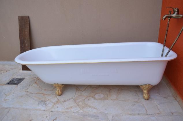 ela, a banheira vitoriana reinando!