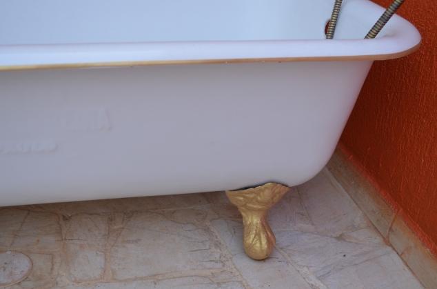pezinhos dourados da banheira!