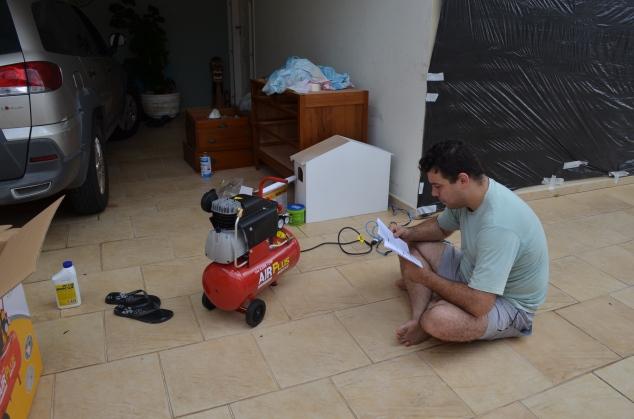 Compressor novo, leia as instruções de uso antes de começar.