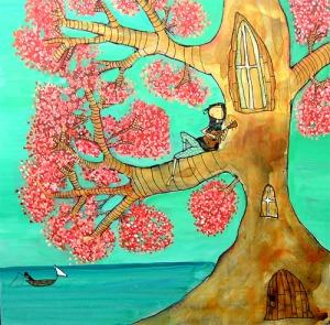 Primeiro trabalhoque vi de Johanna Wright, Portland, EUA. Ukelele.