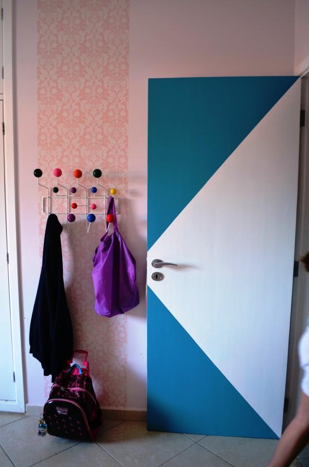 porta azul da Pê