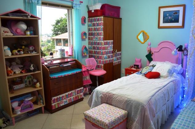 Então tá, este é seu quarto, minha filha! Seja bem feliz aqui!