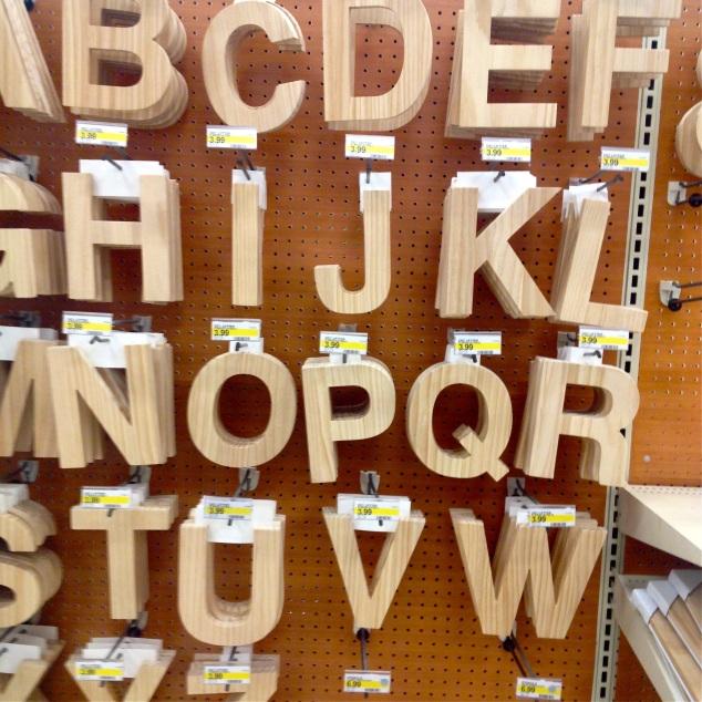 letras de madeira também tem!